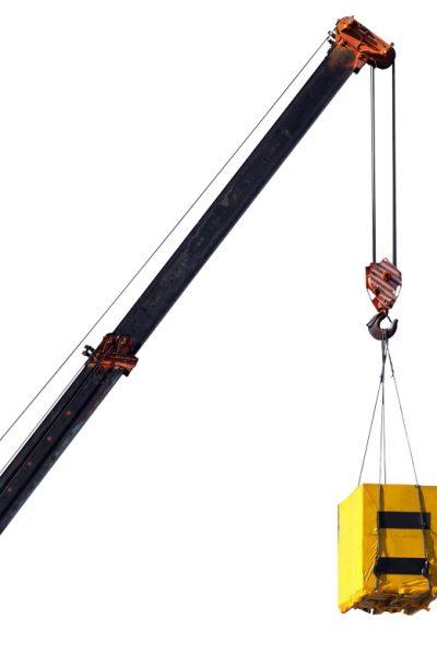 Crane and cargo. Element of building design.